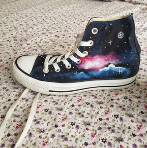 Hand painted GALAXY CONVERSE SNEAKERS